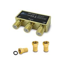 HD DiSEqC Schalter 2/1 F Stecker vergoldet Sat Switch 4K Wetterschutz 2 1 ARLI