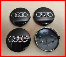 4 Tappi Coprimozzo AUDI 60mm A3 A4 A5 A6 TT RS4 Q5 Q7 S4 A8 Cerchi Lega Borchie