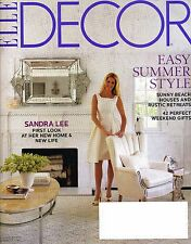 Elle DECOR Magazine July August 2012 Sandra Lee's New Life Beach Summer Style