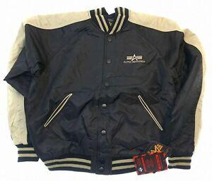 Alpha Industries Westpoint Bomberjacke schwarz Zwischenjahreszeiten jacket S M