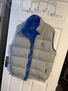 Adidas Mens Gilet Grey Reversible Xl