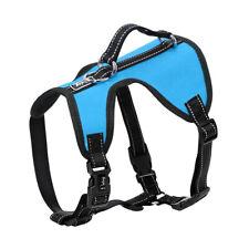 No Pull Dog Harness With Control Handle Nylon Reflective Adjustable Waterproof