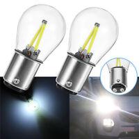 PAIR 1157 BA15D 12V COB LED Car Reverse Backup Tail Brake Light Lamps Bulbs NEW