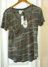 White Owl Women's Camouflage Tee T-Shirt Size Small New With Tags