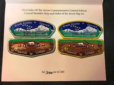 NANUK LODGE 355 OA GREAT ALASKA COUNCIL 523 549 FIREBOWL FLAP & CSP SET NUMBERED
