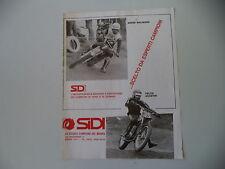 advertising Pubblicità 1974 SIDI e ANDRE' MALHERBE/FELICE AGOSTINI
