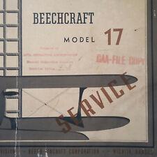 Original Beechcraft Staggerwing Model 17 Service Manual