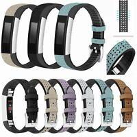 Echtes Leder Ersatz Uhrenarmband Armband Strap für Fitbit Alta HR/Charge HR