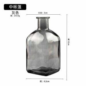 Colorful & Transparent Simple Glass Vase Bottles For Home Decoration Accessories
