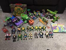 80s TMNT Teenage Mutant Ninja Turtles Figures Vehicle Joblot Bundle Vhs Uk 90s
