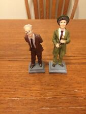 """Norman Rockwell Style Resin 6"""" Figurines-The Entertainer-The Professor"""