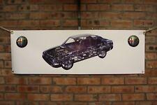 Alfa romeo 90 large pvc  WORK SHOP BANNER garage man cave SHOW