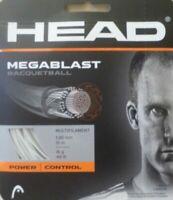 HEAD MEGABLAST RACQUETBALL STRING, ( ALL COLORS & GUAGES )