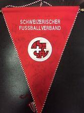 SWITZERLAND SVIZZERA pennant embroidery match worn gagliardetto ricamato firmato