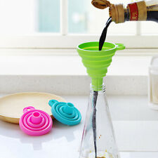 Silicone Funnel Collapsible Foldable Fold heat resistant oil water liquid-hopper