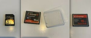 3 x Memory Cards (2x 16GB - 1x 64GB) See description for more details