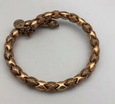 Alex and Ani Energy Russian Gold Thick Basket Weave Bangle Bracelet