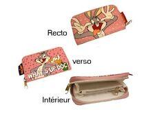 Buggs Bunny Porte monnaie cartes Officiel Neuf  Rose Porte feuilles buggs bunny