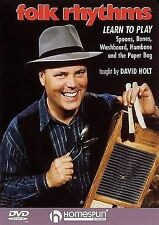 DVD-Folk Rhythms-Learn To Play Spoons,Bones,Washboard,Hambone and the Paper Bag