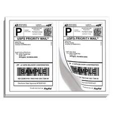 500 Premium Self Adhesive Blank Ship Labels 8.5x5.5