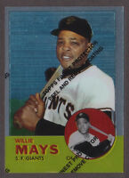 1997 Topps WILLIE MAYS #17 1963 Topps Finest Reprint w/ coating #300 Giants NRMT