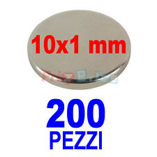 SUPERMAGNETI NEODIMIO 200 MM 10X1 MAGNETI POTENTI PER HOBBY CALAMITA POTENTE gkn