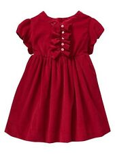 BABY GAP GIRL'S RED CHRISTMAS VALENTINE CORDUROY DRESS ORG. $49.95 12-18 MONTHS