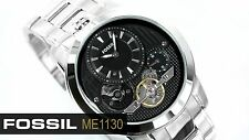 FOSSIL MEN'S TWIST SKELETON COLLECTION SILVER IP TOP WATCH ME1130