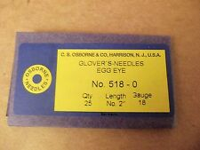 C.S. Osborne #518 Glovers Needles Size 0 (Pack of 25) Leathercraft