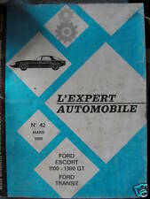 RTA EXPERT AUTOMOBILE FORD ESCORT 1100-1300 GT 1969