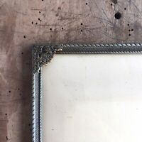 """12x9"""" Frame Photo Picture Convex Glass Danish Brass Silver Gold Farmhouse Large"""