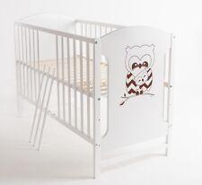 Babybett Kinderbett Eule 120x60 Matratze Holz Weiß Neu