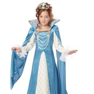Kids Girls Renaissance Queen Outfit Costume