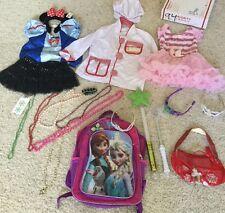 PRINCESS DRESS UP Mix Disney Pretend Costume Lot Girls Sz 4-6 Gown