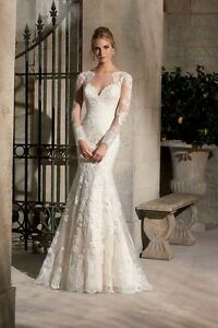 2017 New Illusion Tulle Lace Applique wedding dress, UK tailor made, all sizes