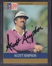 Scott Simpson 1990 PGA Tour Pro Set #12 Autographed Signed jhpsg