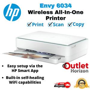 HP Wireless All-In-One Printer Envy 6034 HP Smart App Print Photo Scan Copy WiFi