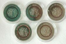 5 euro tropische zone 2017 Komplettsatz alle 5 Münzen ADJFG geschützt in Kapseln