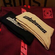 Adidas YEEZY Calabasas Socks 2 pack Black Blush Tan Mens 8-12