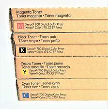 Xerox SET CMYK Toner Color C75 J75 DC 700 770 Press 006R01375 76 77 78