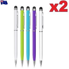 2X Capacitive Touch Screen Stylus Ball Point Ink Pen for iPhone iPad Tablet