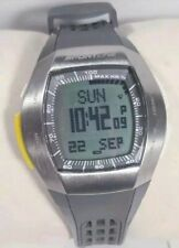 Sportline Duo Watch Ecg Sport 4962 Gray Band Silver Steel Case Heart Rate Monito