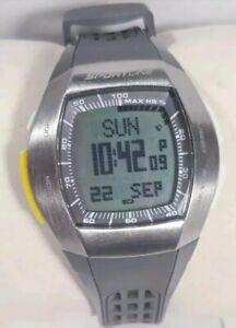 Sportline Duo Watch Ecg Sport 4962 Gray Band Silver Steel Case Heart Rate Monito