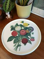 Vintage/Kitsch Floral Serving Tray - 1970's Kitchenalia