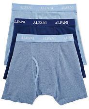 $55 ALFANI UNDERWEAR MEN BLUE COTTON STRETCH SLIM FIT 3-PACK BOXER BRIEFS SIZE L