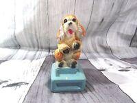 Vintage Chalkware Plaster Begging Floppy Eared Cocker Spaniel Dog Figurine-