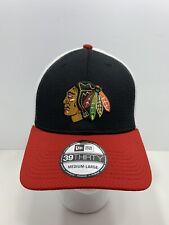 Chicago Blackhawks NHL New Era 39THIRTY Fitted Cap Size Medium-Large, NEW!