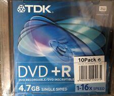TDK DVD+R 16X 120 MIN 4.7GB 16X JEWEL CASES 20 PACK