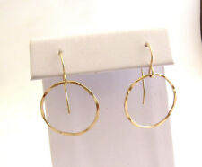 100% gold filled karma ring earrings, good luck charm earrings, karma earrings