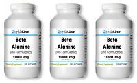Beta Alanine 1000mg High Potency Big Bottles 120/240/360/200/400/600 Capsules